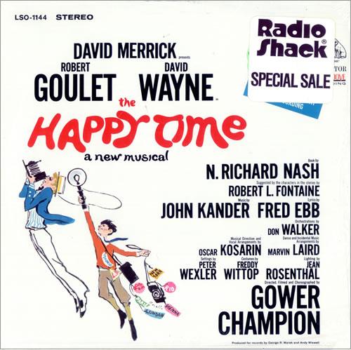 Original Cast Recording The Happy Time vinyl LP album (LP record) US 1OCLPTH496741