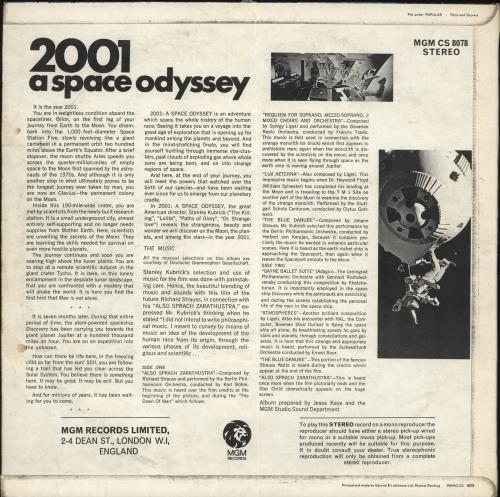 Original Soundtrack 2001: A Space Odyssey - 1st - EX vinyl LP album (LP record) UK OSTLPAS435042