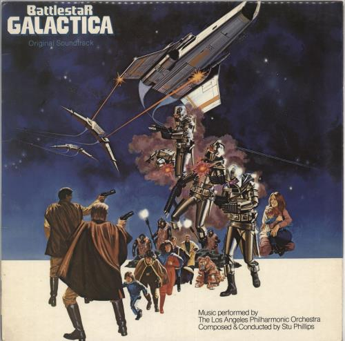 Original Soundtrack Battlestar Galactica + Poster vinyl LP album (LP record) UK OSTLPBA728418