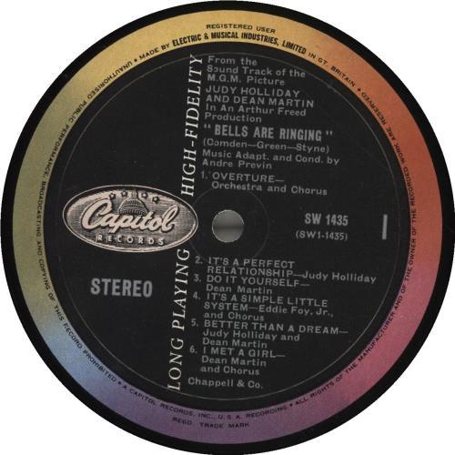 Original Soundtrack Bells Are Ringing vinyl LP album (LP record) UK OSTLPBE693350