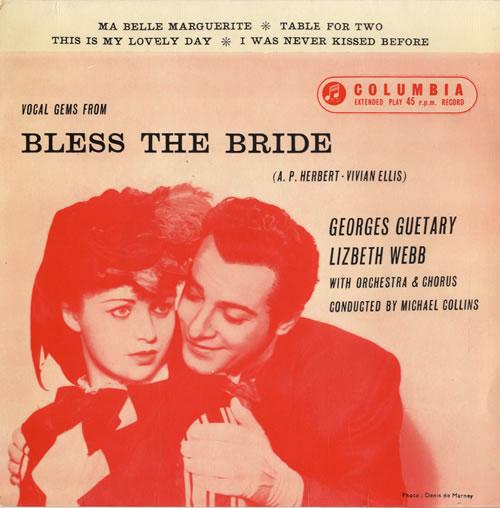 "Original Soundtrack Bless The Bride 7"" vinyl single (7 inch record) UK OST07BL549716"