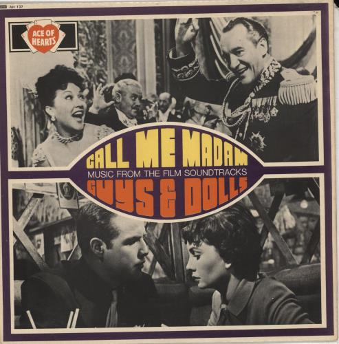 Original Soundtrack Call Me Madam / Guys And Dolls-Music From The Film Soundtracks vinyl LP album (LP record) UK OSTLPCA711793