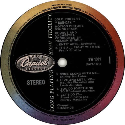 Original Soundtrack Can-Can vinyl LP album (LP record) UK OSTLPCA580423