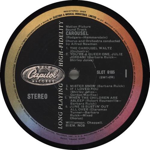 Original Soundtrack Carousel vinyl LP album (LP record) UK OSTLPCA693343