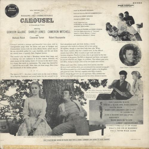 Original Soundtrack Carousel vinyl LP album (LP record) US OSTLPCA726840