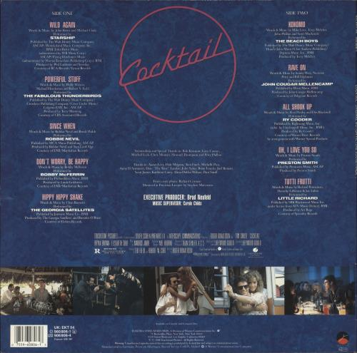Original Soundtrack Cocktail - Stickered Sleeve vinyl LP album (LP record) UK OSTLPCO712395