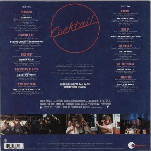 Original Soundtrack Cocktail vinyl LP album (LP record) US OSTLPCO750119