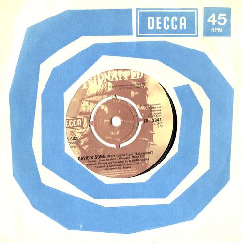 "Original Soundtrack David's Song 7"" vinyl single (7 inch record) UK OST07DA560351"