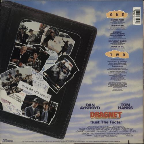 Original Soundtrack Dragnet vinyl LP album (LP record) US OSTLPDR751699