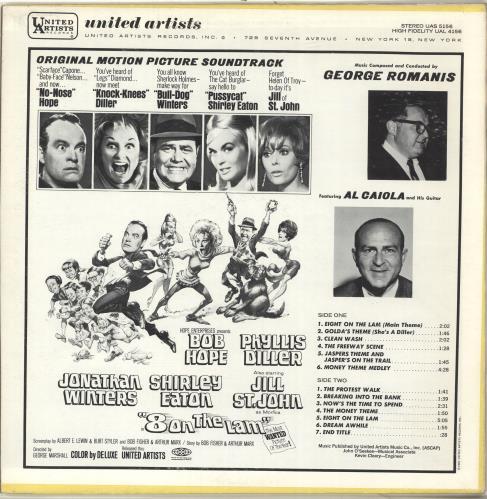 Original Soundtrack Eight On The Lam vinyl LP album (LP record) US OSTLPEI696982
