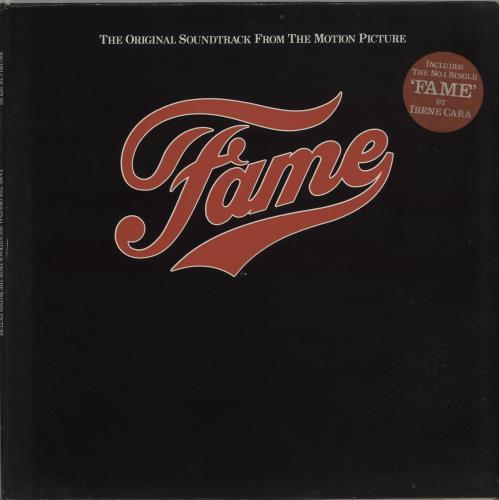 Original Soundtrack Fame - Stickered sleeve vinyl LP album (LP record) UK OSTLPFA316853