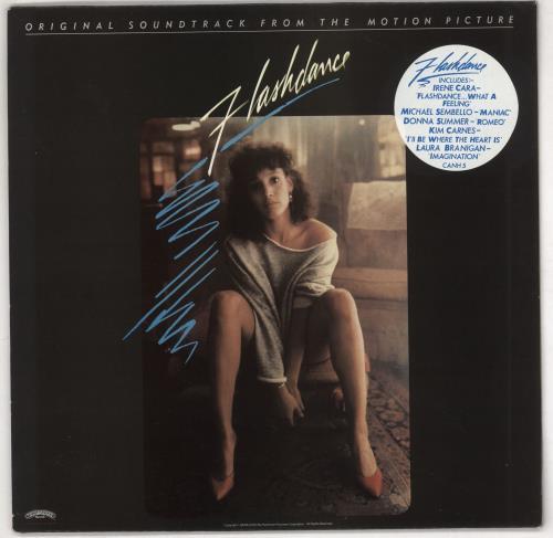 Original Soundtrack Flashdance - Stickered Sleeve vinyl LP album (LP record) UK OSTLPFL733121