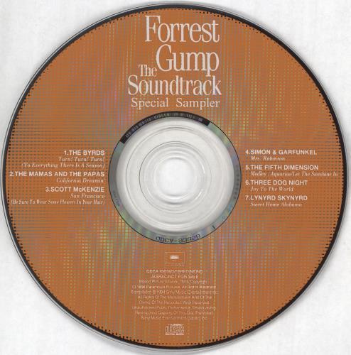 Original Soundtrack Forrest Gump: The Soundtrack - Special Sampler CD album (CDLP) Japanese OSTCDFO731923