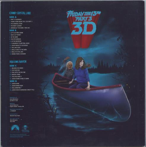Original Soundtrack Friday The 13th Part 3 3D - White With Red Splatter Vinyl 2-LP vinyl record set (Double Album) US OST2LFR754660