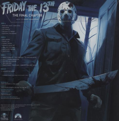 Original Soundtrack Friday The 13th The Final Chapter - Clear With Blue/Green Smoke Vinyl 2-LP vinyl record set (Double Album) US OST2LFR754666