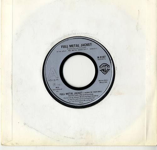 "Original Soundtrack Full Metal Jacket - Juke Box 7"" vinyl single (7 inch record) UK OST07FU600733"