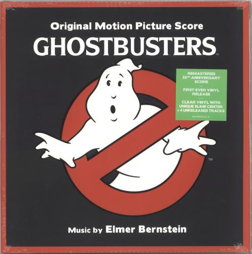 Original Soundtrack Ghostbusters - Clear & Slime Vinyl - Sealed 2-LP vinyl record set (Double Album) UK OST2LGH727727