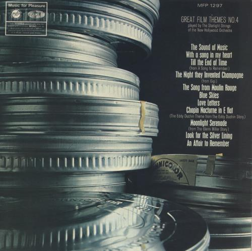Original Soundtrack Great Film Themes No. 4 vinyl LP album (LP record) UK OSTLPGR711912