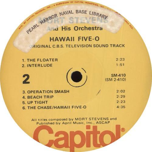 Original Soundtrack Hawaii Five-O - Pearl Harbour Naval Base Stamped & Stickered vinyl LP album (LP record) US OSTLPHA693065