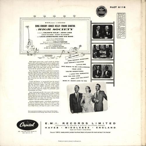Original Soundtrack High Society - yellow label vinyl LP album (LP record) UK OSTLPHI693340