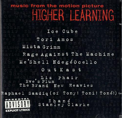 Original Soundtrack Higher Learning CD album (CDLP) US OSTCDHI486333
