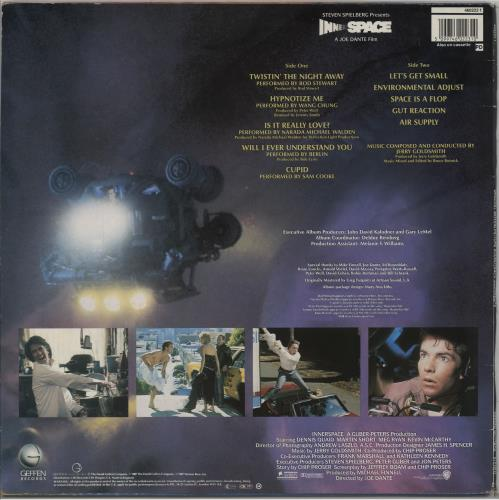 Original Soundtrack Innerspace vinyl LP album (LP record) UK OSTLPIN754684