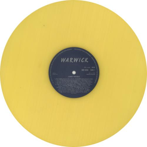 Original Soundtrack Lemon Popsicle - Yellow vinyl vinyl LP album (LP record) UK OSTLPLE728001