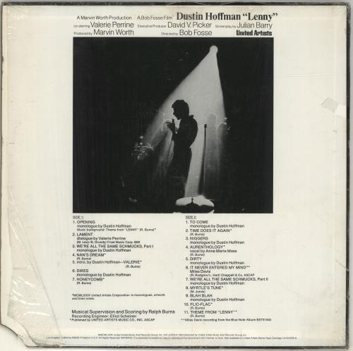 Original Soundtrack Lenny vinyl LP album (LP record) US OSTLPLE486711