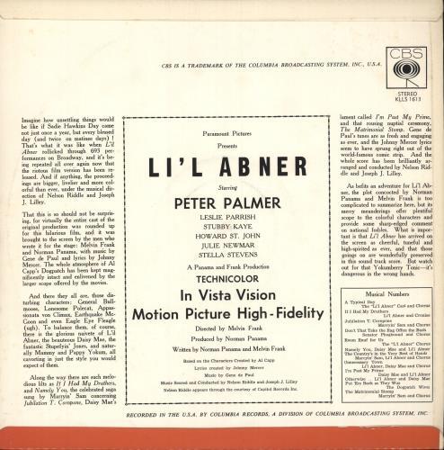 Original Soundtrack Li'l Abner vinyl LP album (LP record) Australian OSTLPLI746142