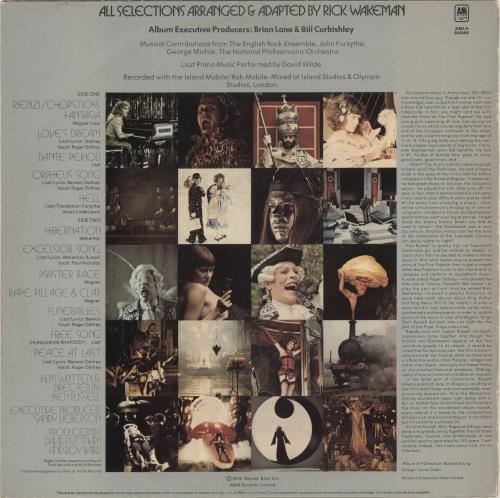 Original Soundtrack Lisztomania - EX vinyl LP album (LP record) UK OSTLPLI693249