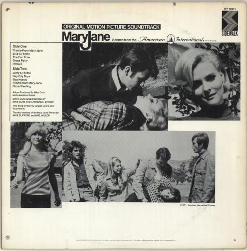 Original Soundtrack Mary Jane vinyl LP album (LP record) US OSTLPMA583936