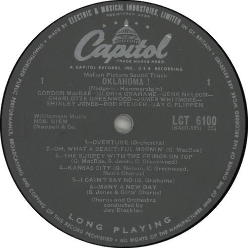 Original Soundtrack Oklahoma! - 2nd vinyl LP album (LP record) UK OSTLPOK660998