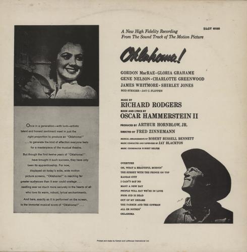 Original Soundtrack Oklahoma! - 80s vinyl LP album (LP record) UK OSTLPOK759505