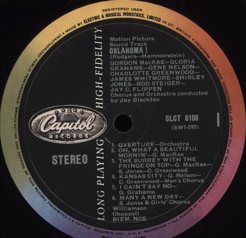 Original Soundtrack Oklahoma! vinyl LP album (LP record) UK OSTLPOK321939