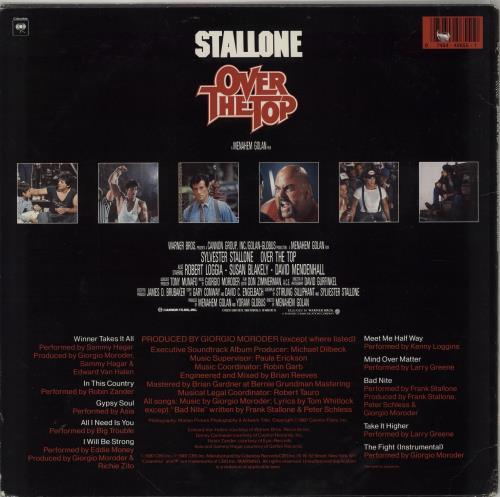 Original Soundtrack Over The Top vinyl LP album (LP record) US OSTLPOV751713