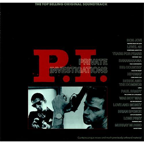 Original Soundtrack P.I. (Private Investigations) vinyl LP album (LP record) UK OSTLPPI426005