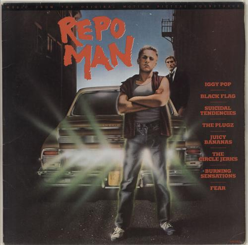 Original Soundtrack Repo Man vinyl LP album (LP record) US OSTLPRE684571