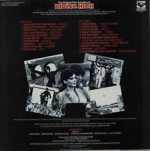 Original Soundtrack Riding High vinyl LP album (LP record) UK OSTLPRI751712