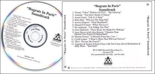 Original Soundtrack Rugrats In Paris US Promo CD-R acetate