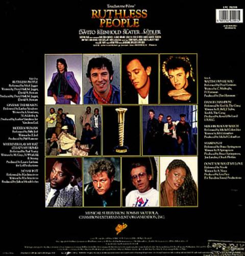 Original Soundtrack Ruthless People Uk Vinyl Lp Album Lp
