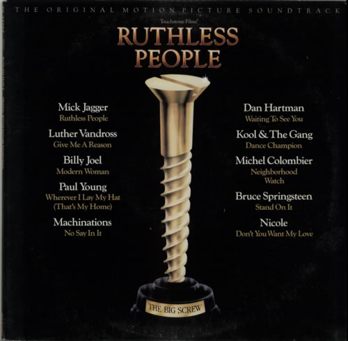 Original Soundtrack Ruthless People vinyl LP album (LP record) US OSTLPRU624299