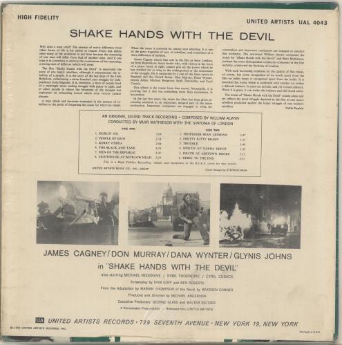 Original Soundtrack Shake Hands With The Devil vinyl LP album (LP record) US OSTLPSH699515