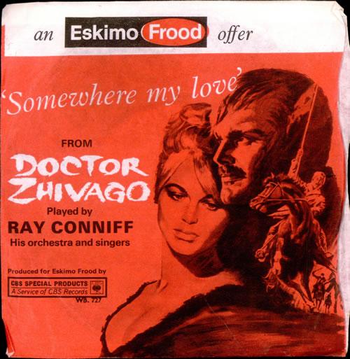 "Original Soundtrack Somewhere My Love 7"" vinyl single (7 inch record) UK OST07SO510567"