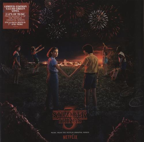 Original Soundtrack Stranger Things 3 - Clear Green Vinyl 2-LP vinyl record set (Double Album) UK OST2LST771778