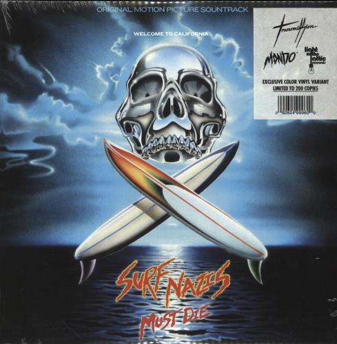 Original Soundtrack Surf Nazis Must Die - Silver/Blue Swirl vinyl LP album (LP record) US OSTLPSU745782