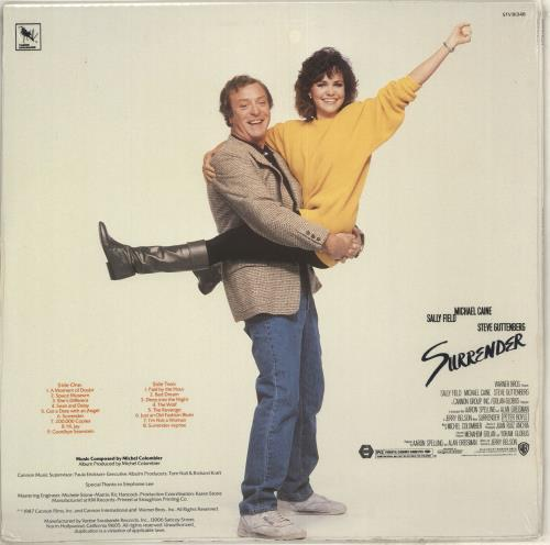 Original Soundtrack Surrender - Sealed vinyl LP album (LP record) US OSTLPSU714400