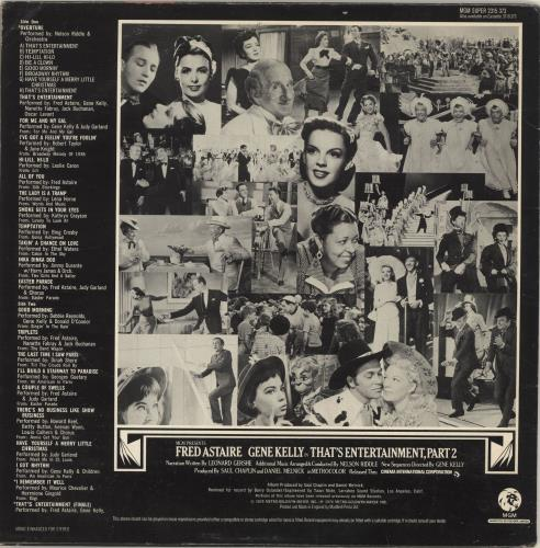 Original Soundtrack That's Entertainment, Part 2 vinyl LP album (LP record) UK OSTLPTH567553