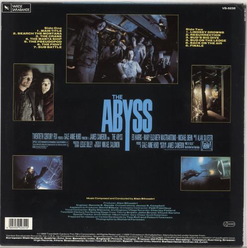 Original Soundtrack The Abyss vinyl LP album (LP record) German OSTLPTH728430