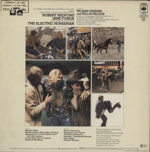 Original Soundtrack The Electric Horseman - Gold Promo Stamped vinyl LP album (LP record) UK OSTLPTH756933