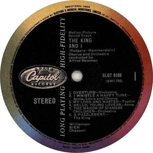 Original Soundtrack The King And I - 2nd vinyl LP album (LP record) UK OSTLPTH651764